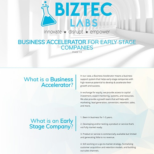 Screenshot Biztec Labs